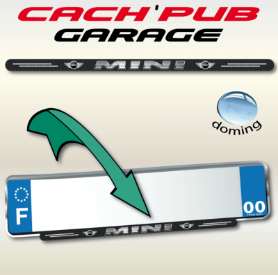 MINI BMW autocollant Cach'Pub garage 355x13mm