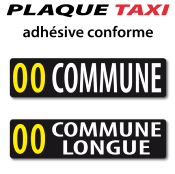 PLAQUE TAXI B conforme (réglementation nationale) standard sans blason