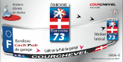 COURCHEVEL AUTOCOLLANT PLAQUE D'IMMATRICULATION