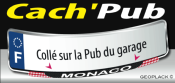 MONACO sticker plaque d'immatriculation Cach'Pub garage 1714-2