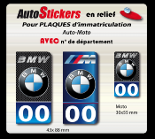 BMW- Bmw MOTORSPORT sticker plaque d'immatriculation 1701-2