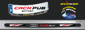 AUDI SPORT sticker plaque d'immatriculation Cach'Pub 1704-8