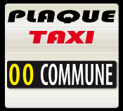 TAXI plaque d'identification A 1806-18-TX