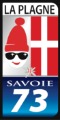 LA PLAGNE STICKER 73 plaque d'immatriculation