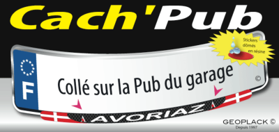 AVORIAZ sticker plaque d'immatriculation Cach'Pub 1806-29-E