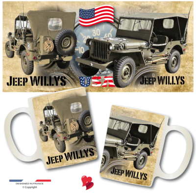 JEEP WILLYS USA tout terrain 4x4 Tasse Mug