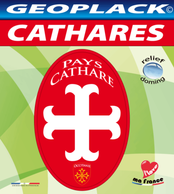 CATHARES Autocollant souvenir oval 90x60 mm