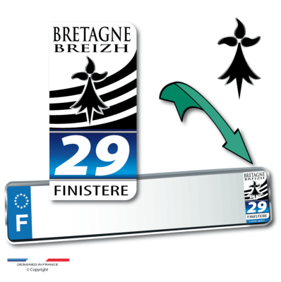 FINISTERE 29 autocollant 43x88 mm