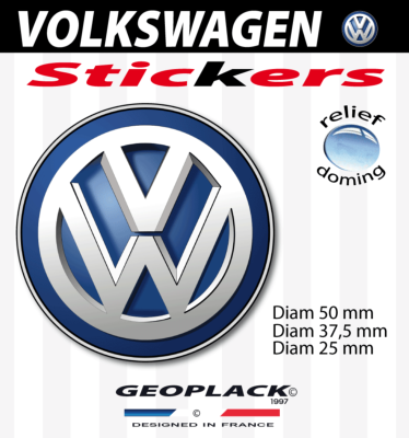 VOLKSWAGEN autocollants stickers doming
