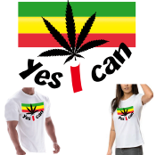 "RASTA JAMAÏCA t-shirt ""YES I CAN"""
